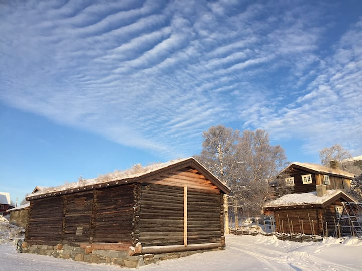 Brendjordsbyen (Cozy cabin on 18th century farm)