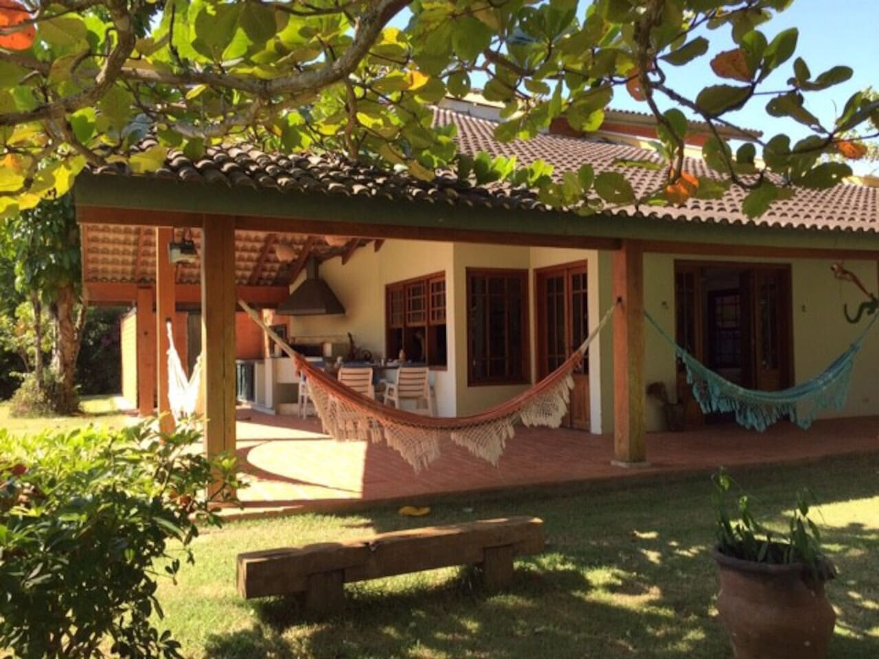 Charming house with hammocks!