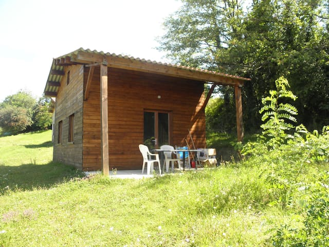 chalet bois climatisé 50 m2 - Montchenu - บ้าน