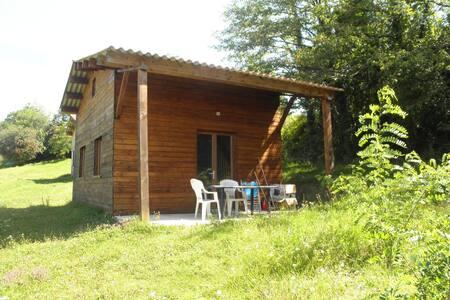 chalet bois climatisé 50 m2 - Maison