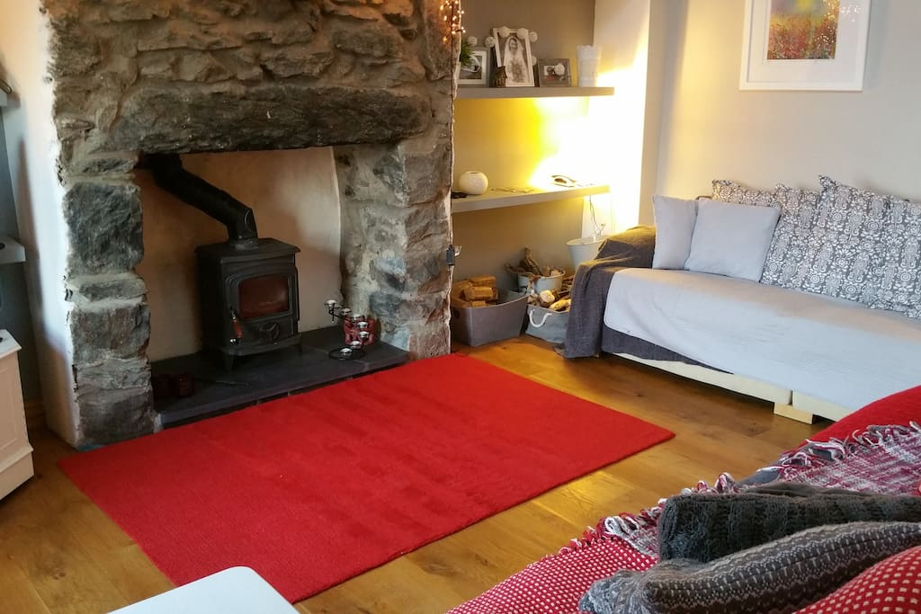 Inglenook fireplace with Woodburning stove