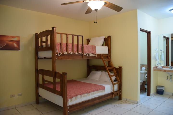 50 mtrs to Playa Hermosa - Double/single bunk bed