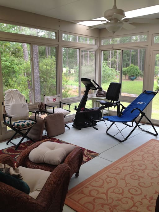Sunroom and spinning!