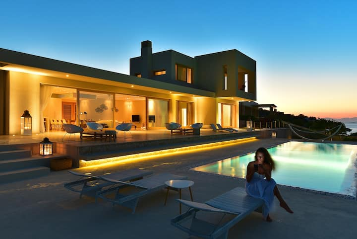 Exclusive Luxury Sea Front Villa | Greek Island