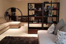One living room with two sofa beds