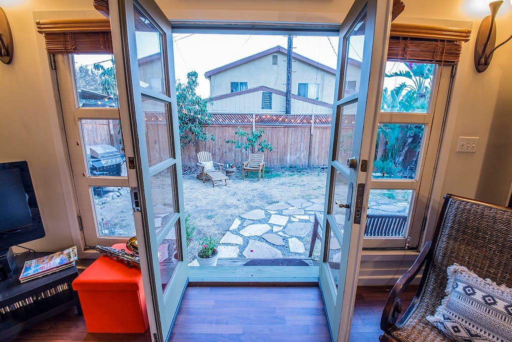 Although there is an a/c, we think that the evening breeze when you open the french doors is quite lovely!