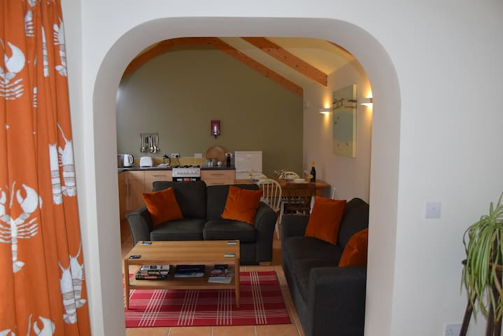 Looking through to lounge and kitchen dinner