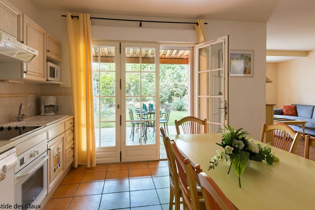 Prepare meals in the privacy of your own kitchen and enjoy them at the dining table.
