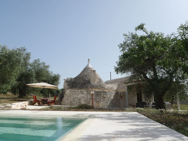 Trullo with pool and jacuzzi. - Castellana grotte - Casa