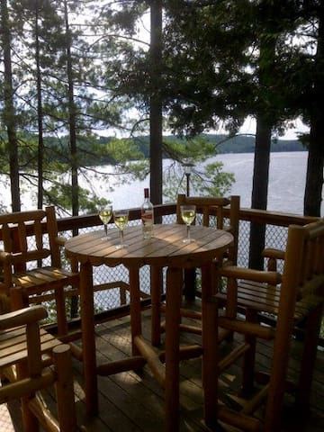 On The Rocks, Private 10 acre waterfront property