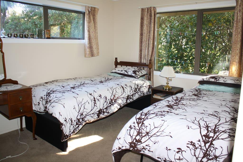 Comfortable twin beds in Bedroom 2
