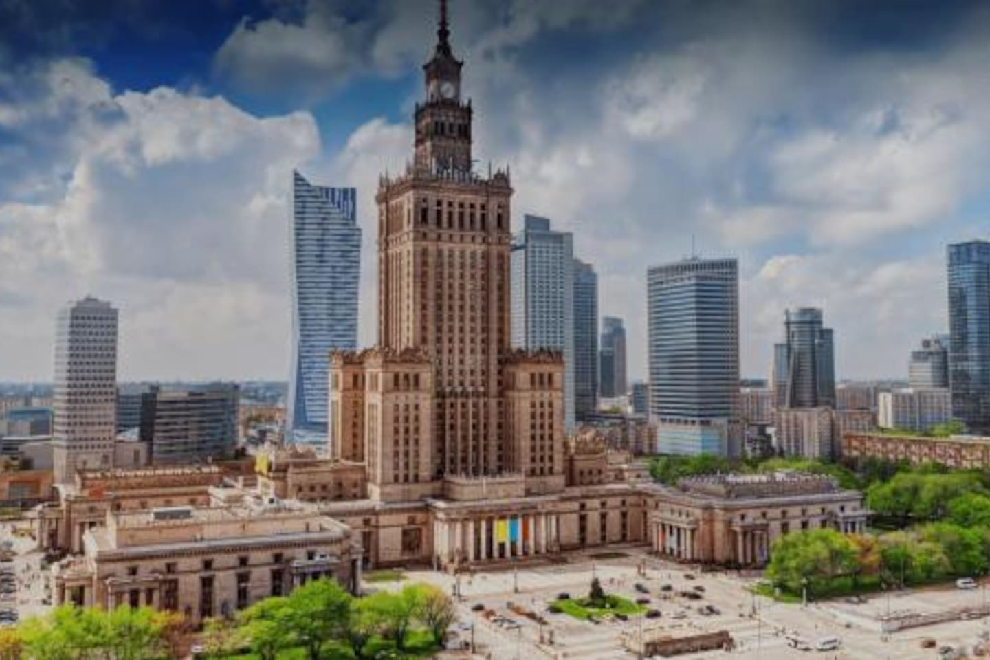 """Main attraction called """"Palace of Culture"""". It is Siviet's """"gift"""" to Polish people but it was a sign of Soviet's Russian domination."""