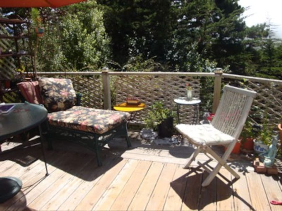 Comfortable deck and patio table to encourage outdoor living.