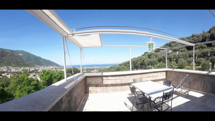 sea view penthouse with private panoramic terrace
