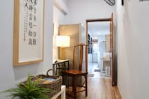 Beautiful Chinese art line the hallways and add to the uniqueness of our space.