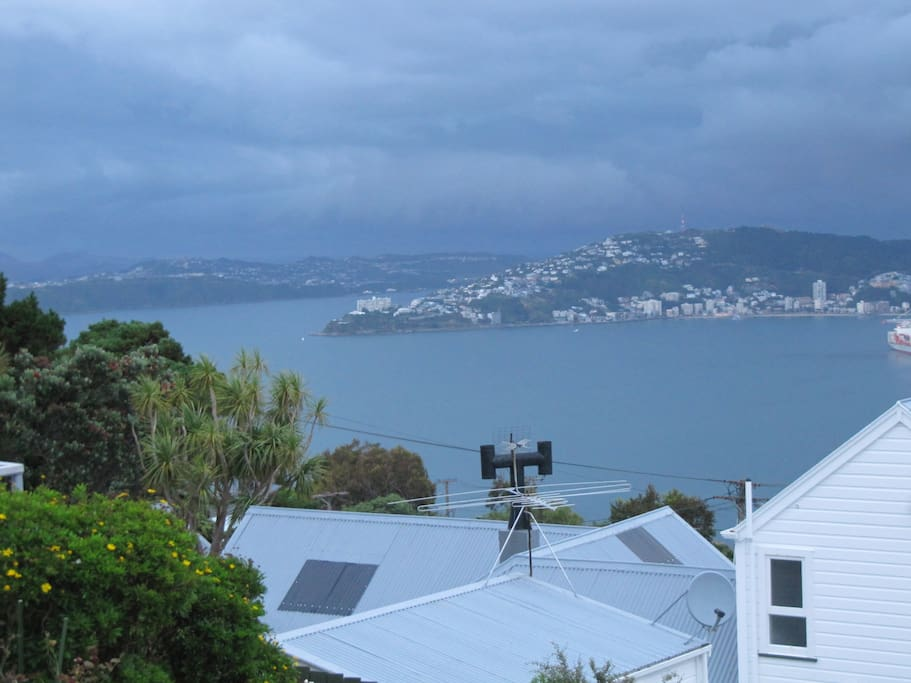 Wellington harbour - view from the house