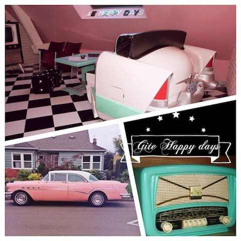 Gite Happy days a thème vintage  (route 66) - Beuzeville - Apartment
