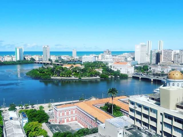 Quarto Com Vista Encantadora do Recife Antigo