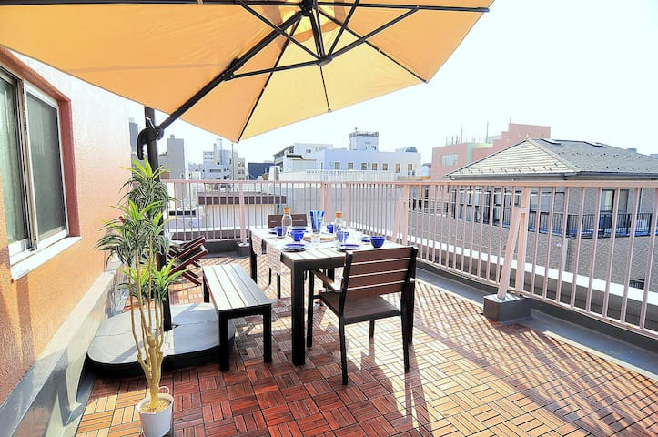 2BR with Room Balcony near Skytree!