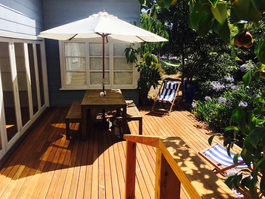 Spacious deck areas.