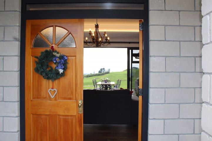 Welcome! Front door.