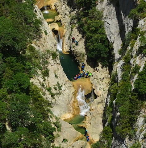 Canyoning at the Gorges de Galamus, south of Mazamet. Brilliant to try in the summer