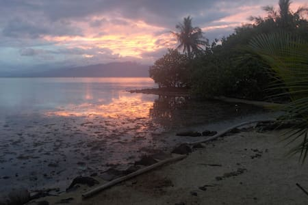 Beach House, private bedroom, maison bord de mer - Papeete - Ev