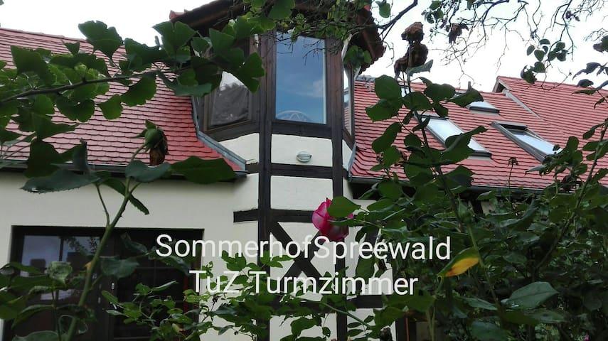 TZ Sommerhof Turmzimmer+Alkoven ( bis 6 Pers.)
