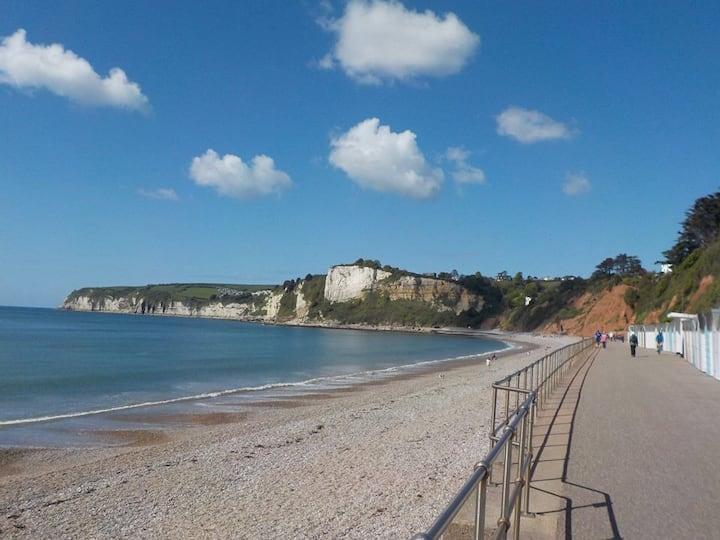 Coastal path Jurassic coast line idyllic setting