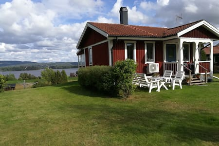 Cozy cottage with magnificent view of Siljan Lake
