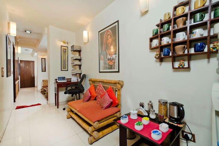 Private bedroom in Villa -New Delhi - New Delhi - Bed & Breakfast