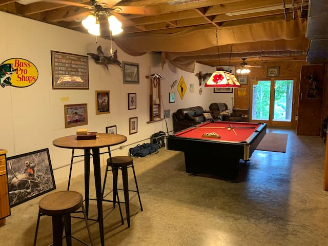 Game room - competition pool table