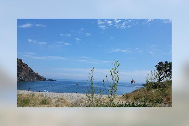 Vue mer, réserve marine  :)