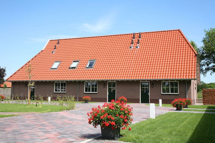 Comfy Farmhouse at Overijssel with a Trampoline
