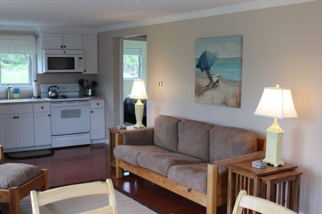 Living area look toward kitchen