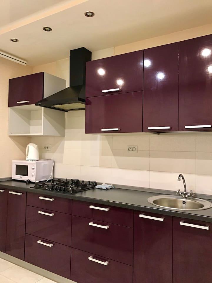 Однокомнатная квартира в новом доме на Воробьева