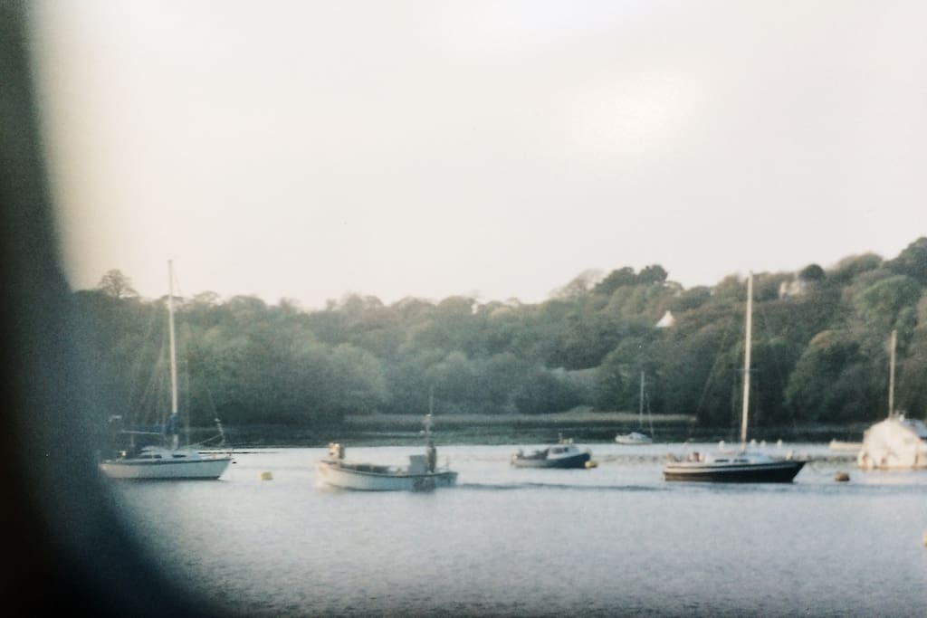 A view across the Fal River, ever moving with the tides.