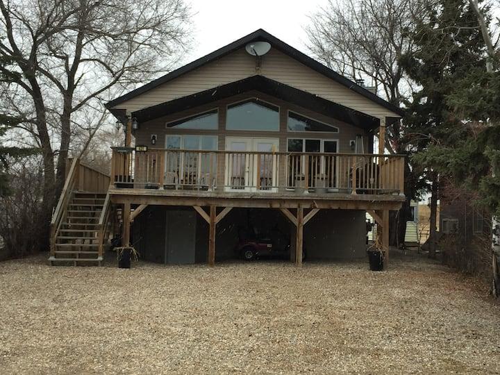 Modern cabin at Aquadeo, Jackfish Lake, Sk.