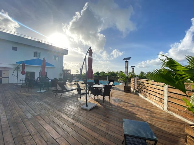 saipan angel swimming pool apartment A 104