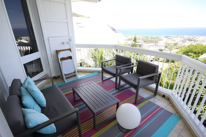 T3 with Sea view and jacuzzi - Saint-Denis