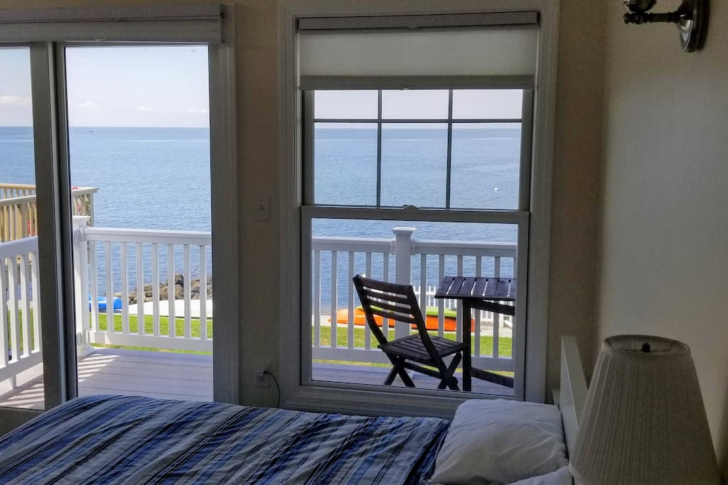 Bedroom with a view and access to upper porch