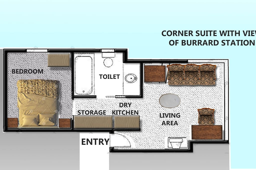 Layout of the suite