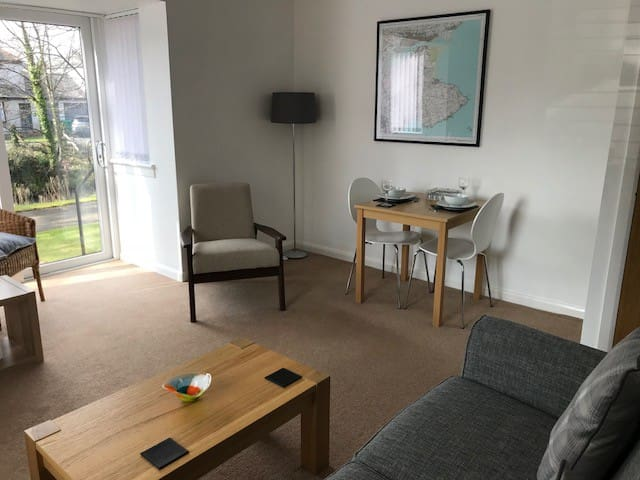 Beautiful apartment with private parking space.