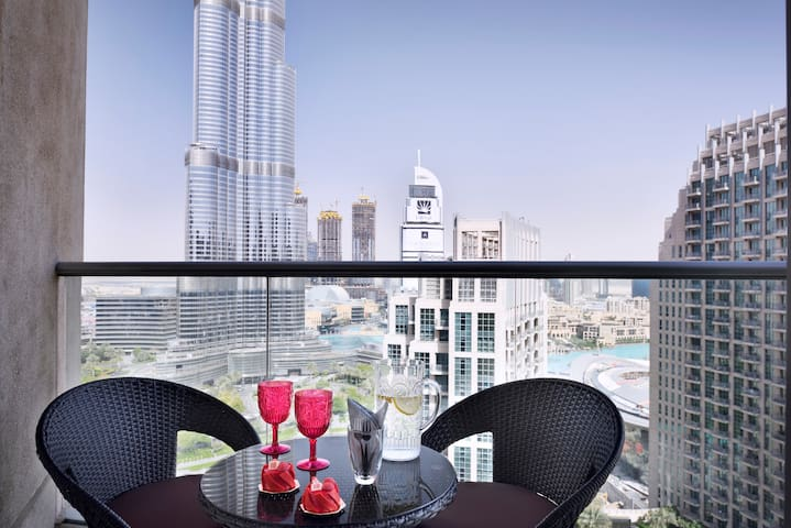 Burj & Fountain view - Iconic 2BDR Downtown Dubai - Dubaj
