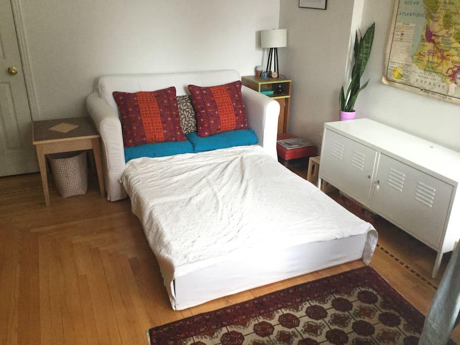 Sofa bed sleeps 2