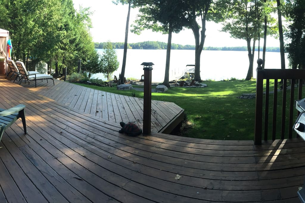 Back deck and waterfront view