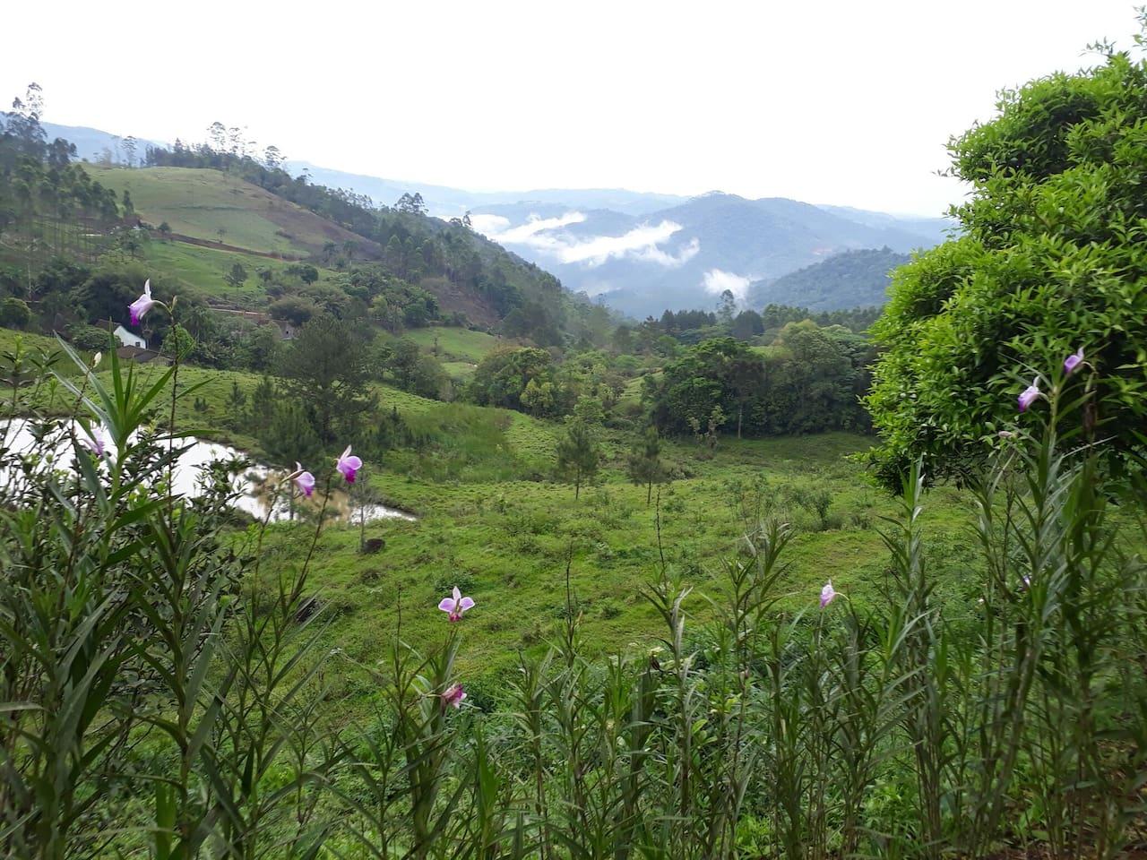 Vista do Vale das montanhas