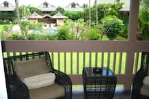 Balcony View with View of Pool