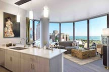 Gorgeous Penthouse Room Downtown Chicago views!!!