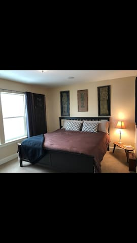 Cozy room w/ memory foam Cali King Mattress
